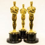 Finished gold plated Oscars